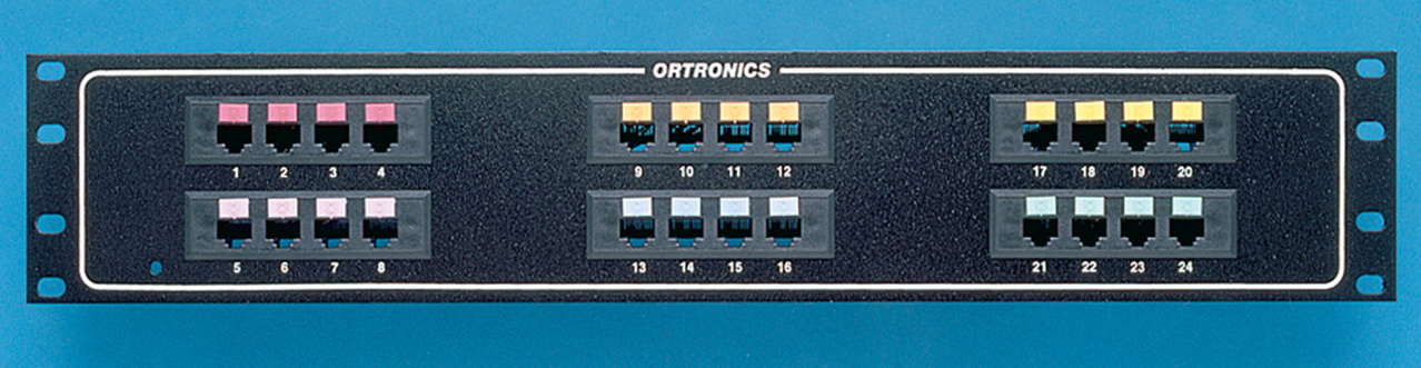 Mod 6/Telco Panel, 24-port quad / 3,4 / M50, OR-808004920