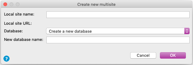 Create a new Drupal multisite