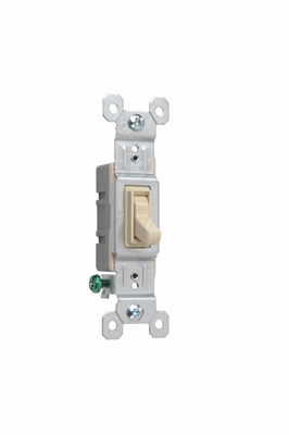 TradeMaster Grounding Toggle Switch, Ivory, 660IG