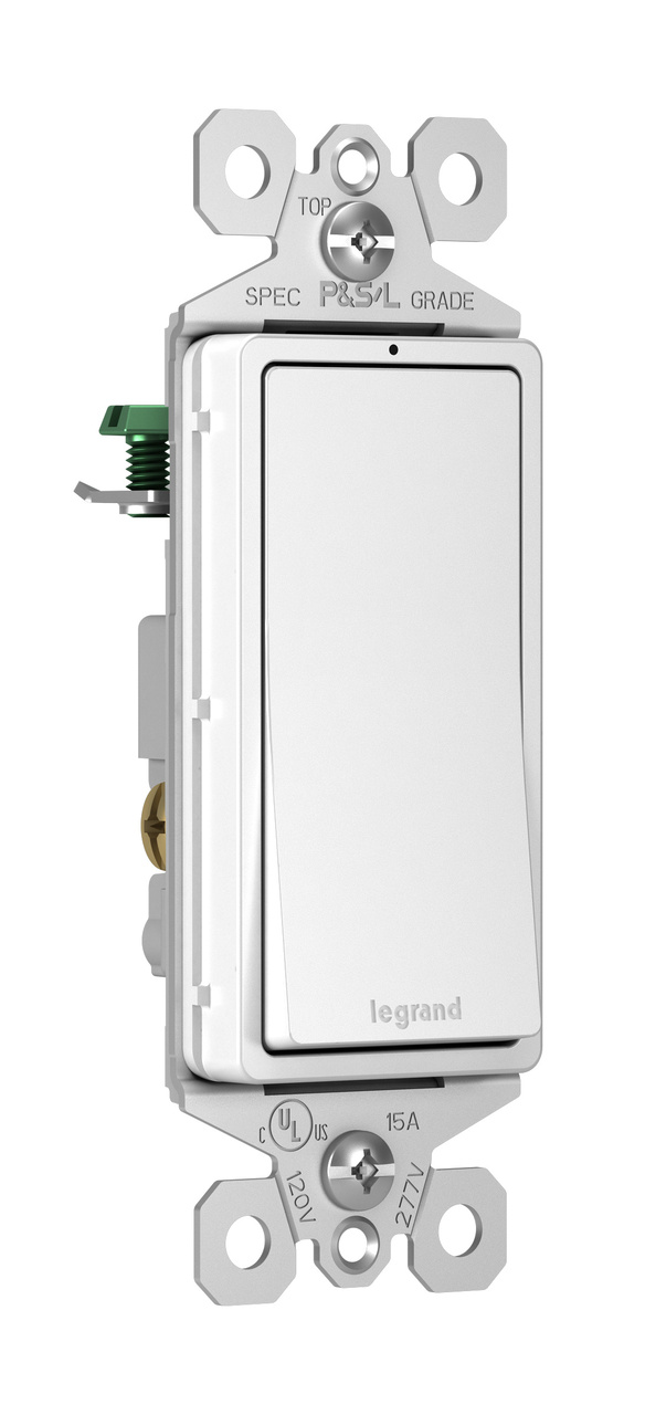 radiant 15a 3 way lighted switch white legrand. Black Bedroom Furniture Sets. Home Design Ideas