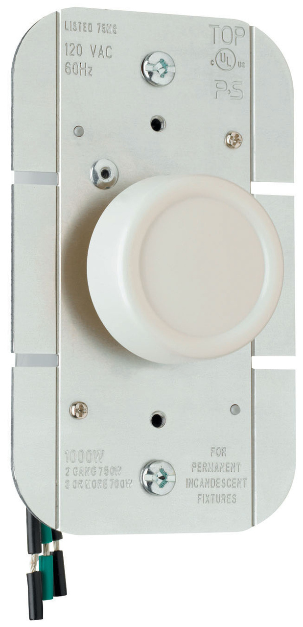Rotary R Series Dimmer, Light Almond