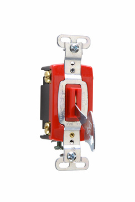 Industrial Extra Heavy-Duty Specification Grade Lock Switch Back & Side Wire, PS20AC4REDL