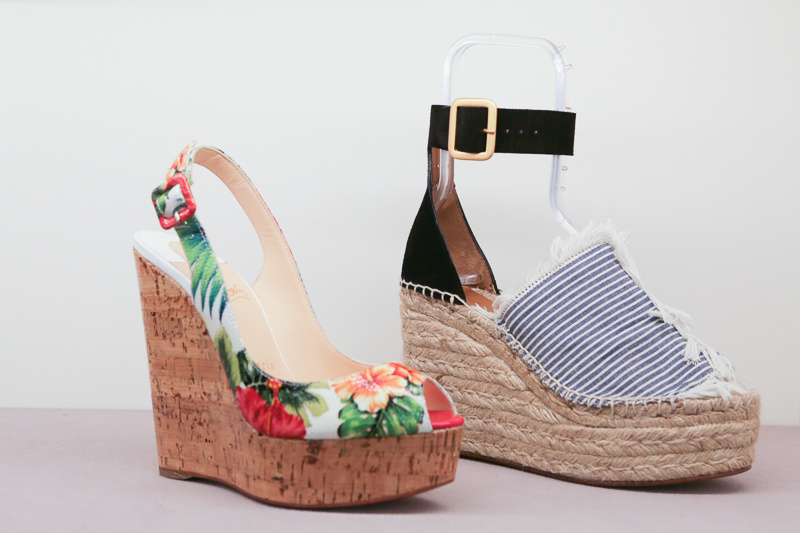 Decisions, decisions! Wedges are still hot for the summer, and these options are fun and colorful, so you can't go wrong!