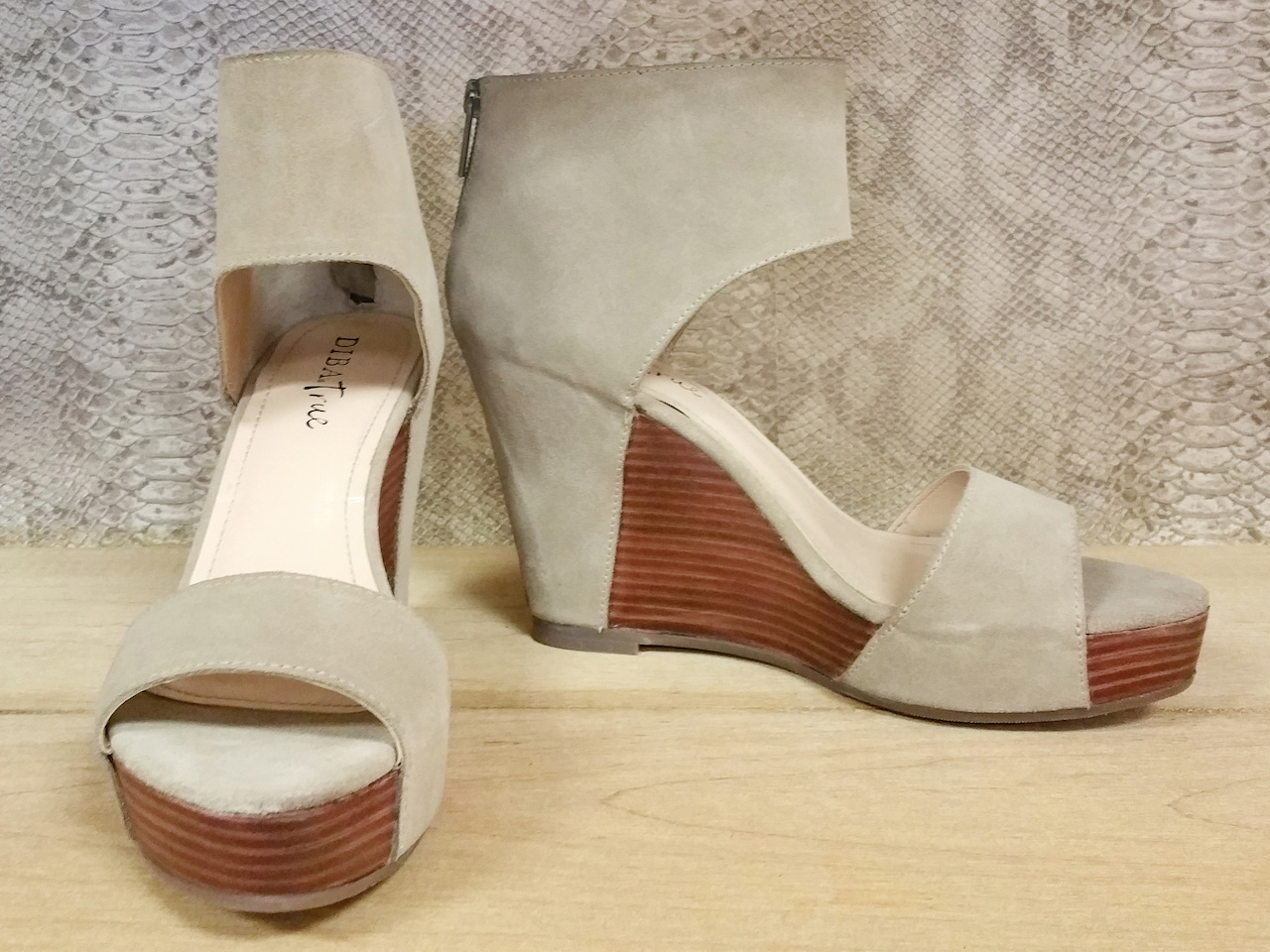 "Diba True's ""Shimmy Down"" wedge, $138, at Shoefly Boutique"