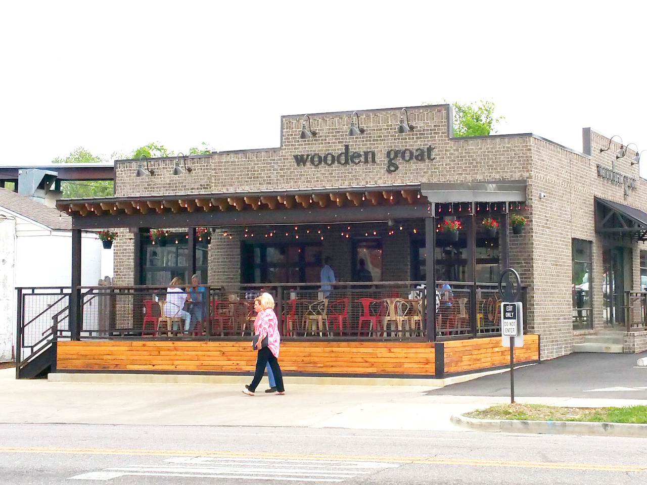 In the heart of Avondale, wooden goat has terrific parking as well as a large covered patio dining area.