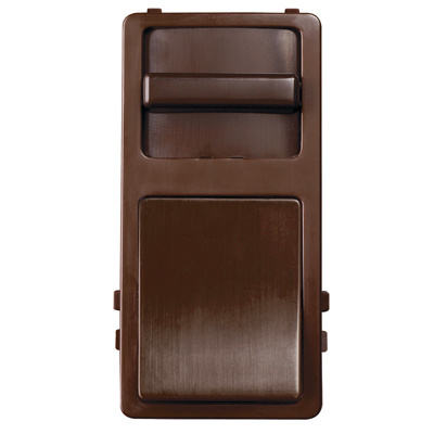 Wide Slide Preset Interchangeable Face Cover, Brown