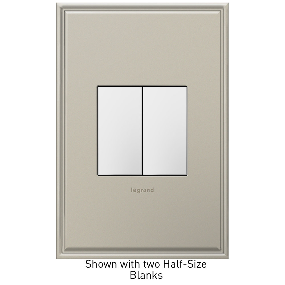 adorne Half Size White Blank Switch