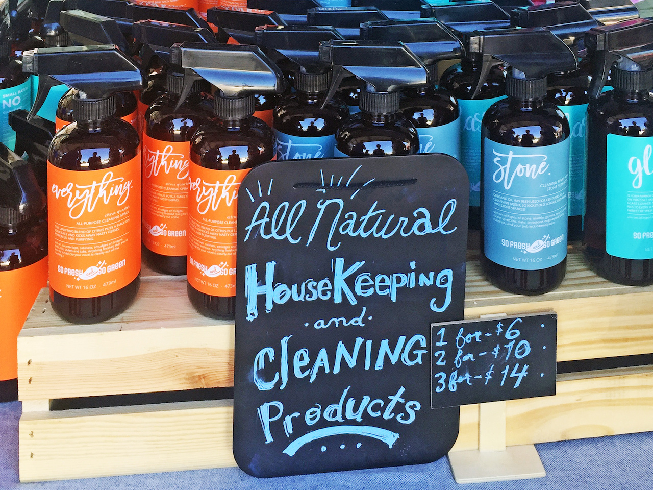 From So Fresh and So Clean, the Everything All Purpose Cleaning Solution, $6.