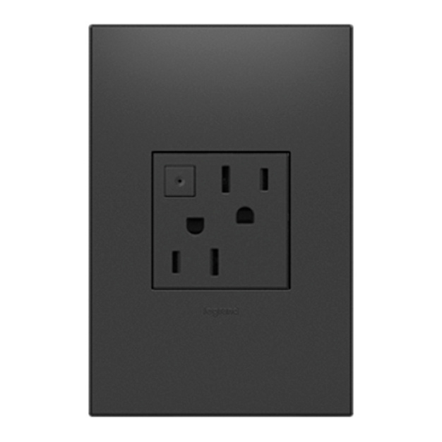adorne graphite outlet and wall plate