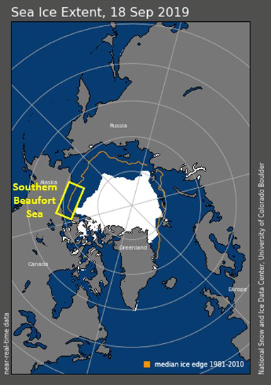 ASAMM_Blog8_SeaIceExArctic sea ice extent comparison between 1981-2010 and 2019.tent_18Sep2019.png