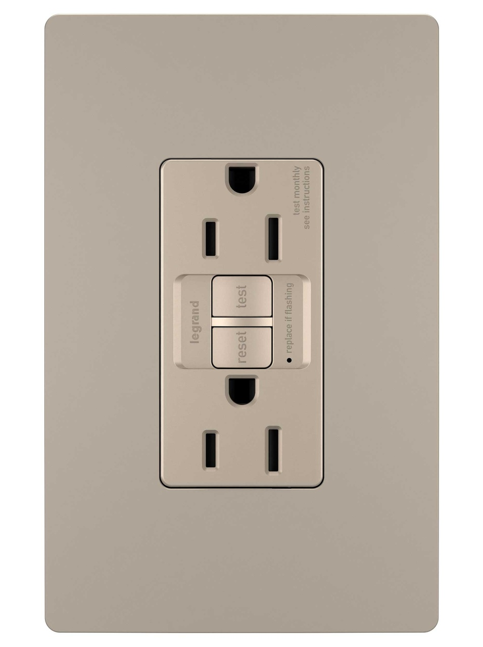 Radiant Spec Grade Tamper Resistant 15a Self Test Duplex Gfci Electrical Wiring In The Home No Power To Bathroom Receptacles Nickel