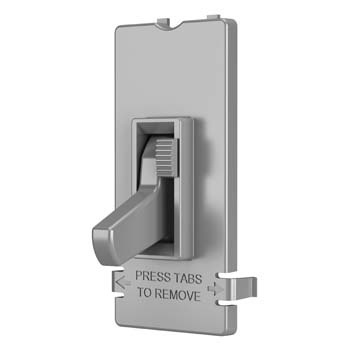 Toggle Slide Dimmer Interchangeable Color Change Kit, Gray
