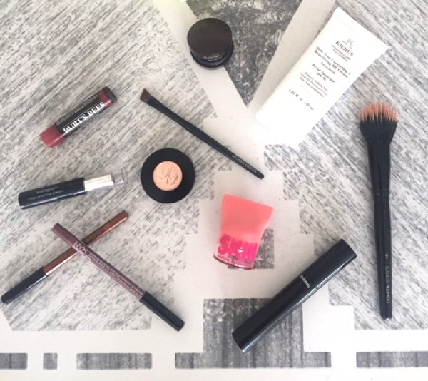 Kerri's favorite cosmetics can easily fit into a small makeup bag!