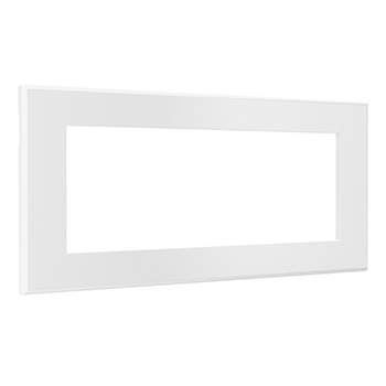 Furniture Power Replacement Bezel For 2-Outlet Unit - White
