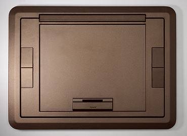 Evolution Surface Style Cover w/Carpet Insert-Bronze, EFB610CTCBZ