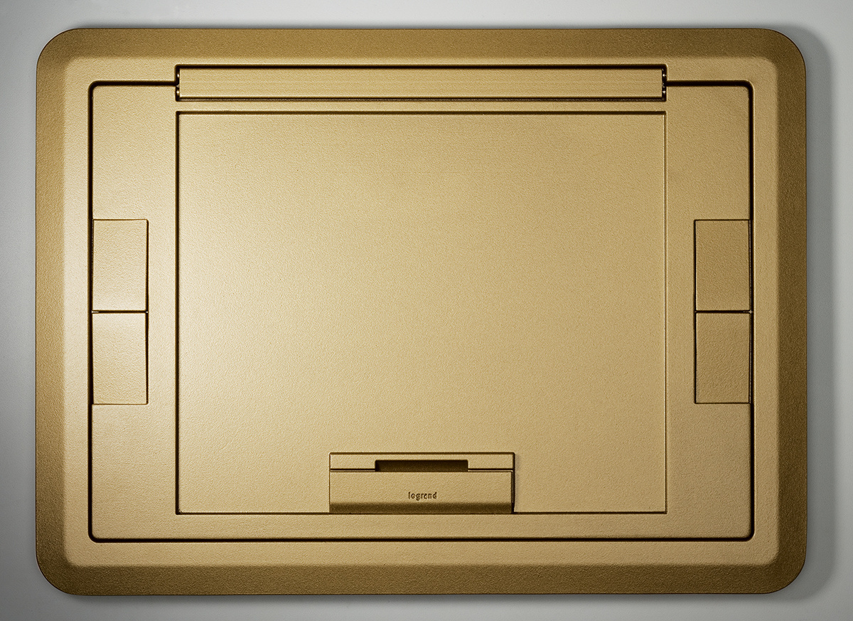 Flush Style Cover with Floor Insert Brass Powder Coated Finish, EFB45BTBS