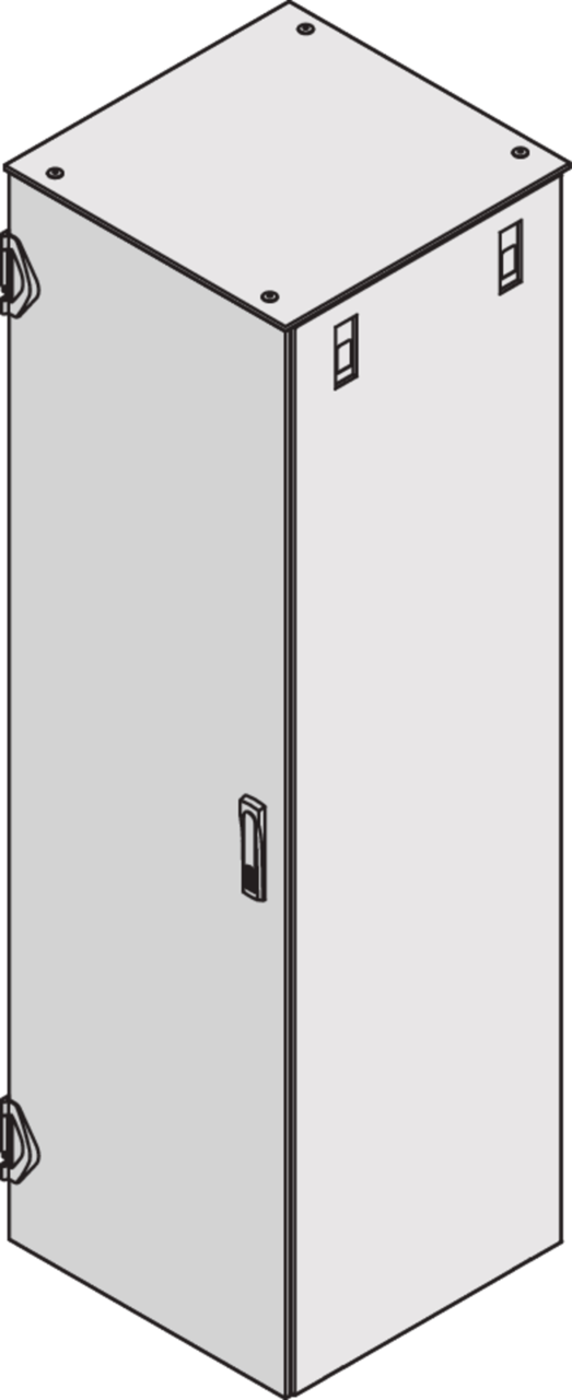 Image for Steel door, solid, with mounting frame (Varistar) from Schroff - North America