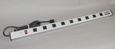 "120V/15A / 36"" Long / 9 O/L / Lighted Switch / 15' Cord, UL309BD"