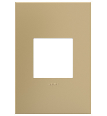 adorne 1-Gang Golden Sands Wall Plate