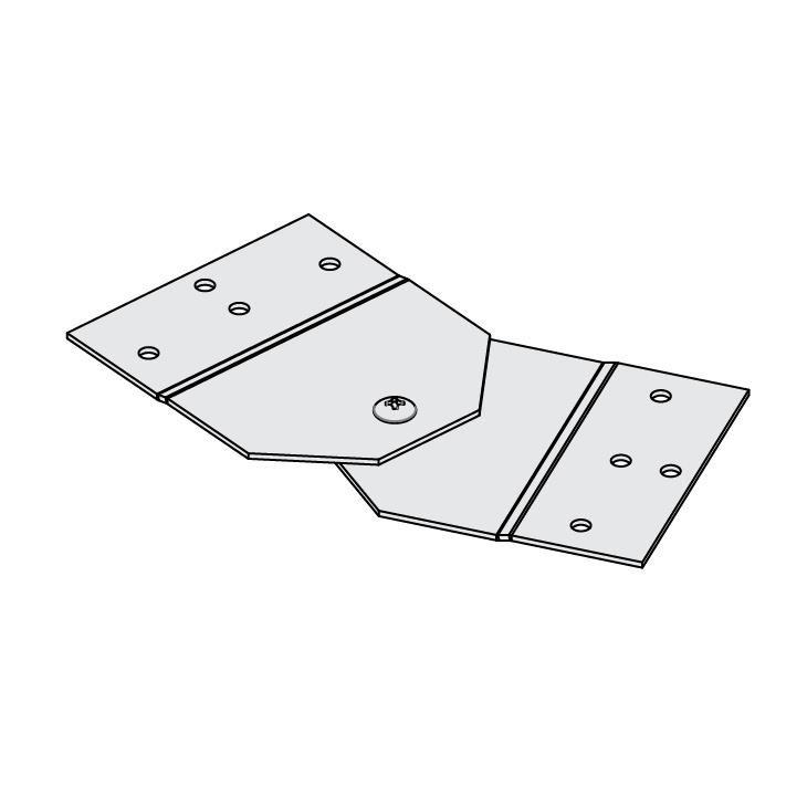 Cable Channel Tray Metallic Horizontal Adjustable Splice