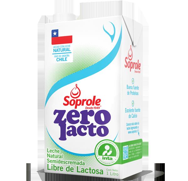 Soprole Zerolacto Leche Semi Descremada 1L