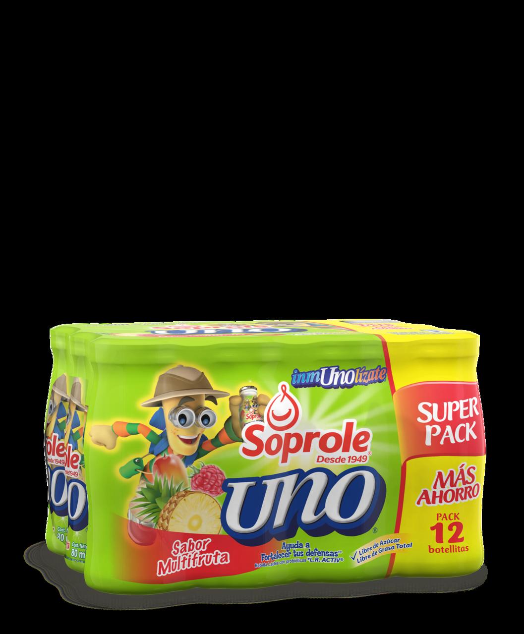 Soprole uno sabor multifruta pack 12