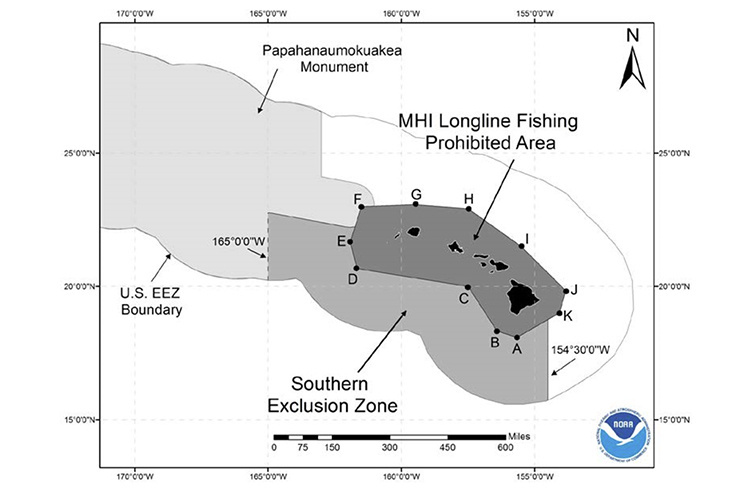 The Southern Exclusion Zone is the portion of the U.S. Exclusive Economic Zone (EEZ) around Hawai'i.