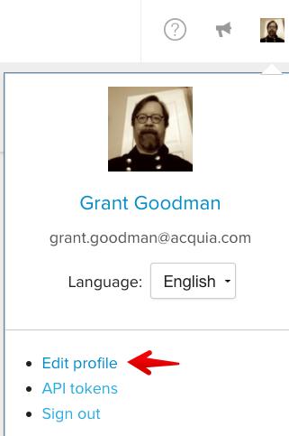 Editing profile credential settings