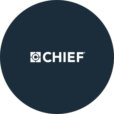 Chief logo with navy blue background
