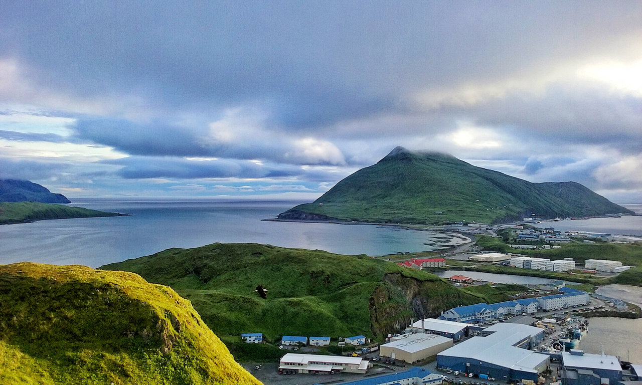 Dutch Harbor from the top of Bunker Hill