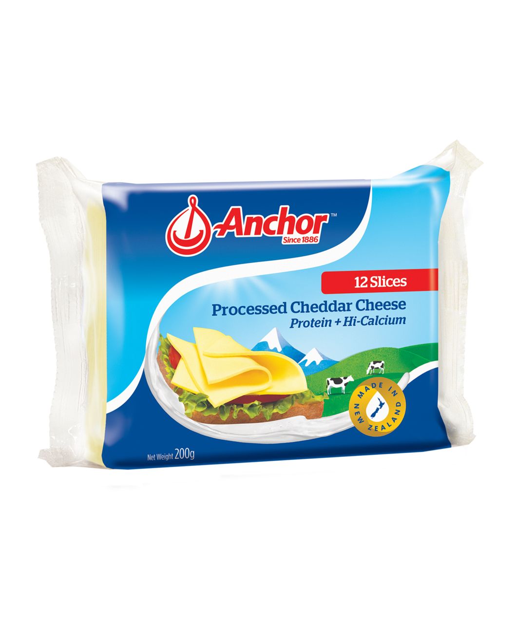 Anchor Cheddar Slices 200g
