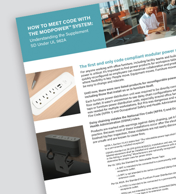 ModPower System code compliance white paper