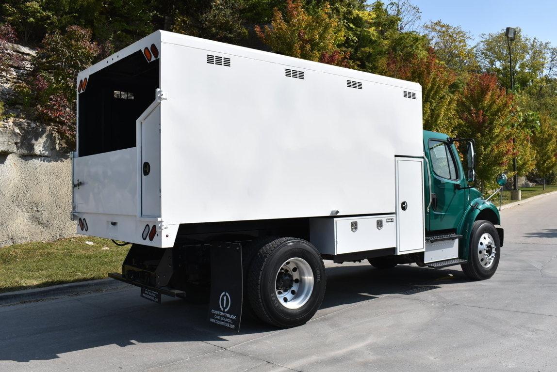 2017 Freightliner M2106 4x2 Chipbox with Hoist Chip Truck