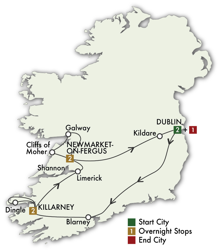 2022 Best of Ireland South (Tour A) - 8 Days/7 Nights