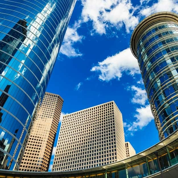 exterior of modern buildings