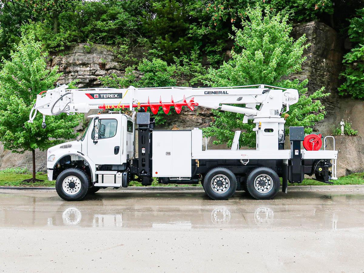 Terex General 65 Digger Derrick on 2020 Freightliner M2106 6x6