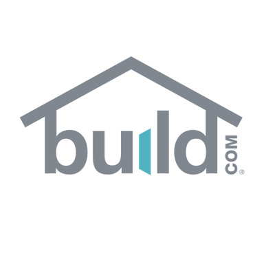 build.com logo with gray and teal text