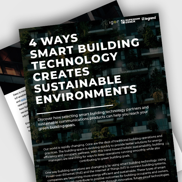 Desktop image of smart buildings and sustainability supporting documents
