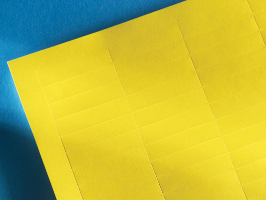 LabelMo paper stock for IMO in yellow, OR-70400411-24