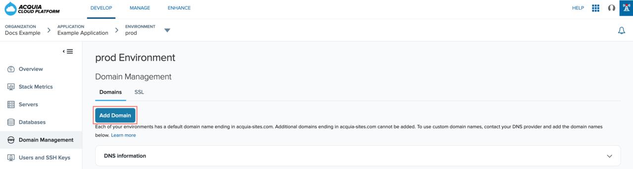 The add domain icon