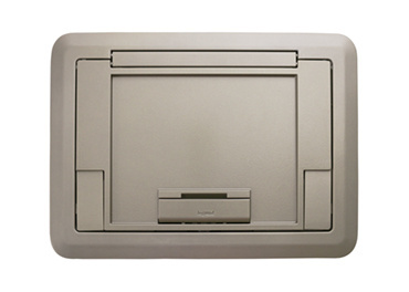 Surface Style Cover with Floor Insert Nickel Powder Coated Finish, EFB45CTCNK
