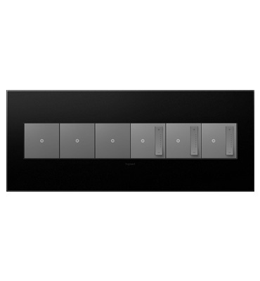 adorne 6-Gang Graphite Wall Plate