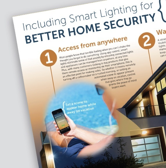 Cover of Legrand Better Home Security white paper with person holding smart phone on the cover