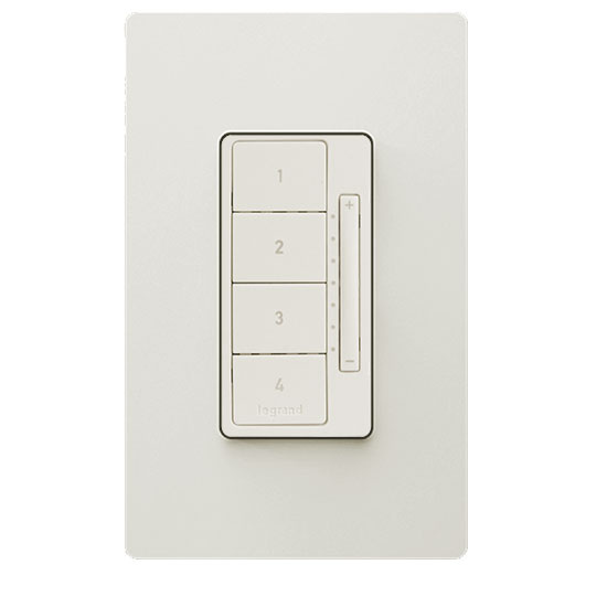 In-Wall RF Scene Controller, Light Almond