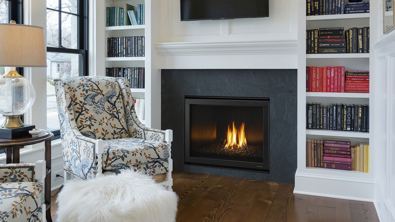 6000 Modern Indoor Gas Fireplace Heat Glo