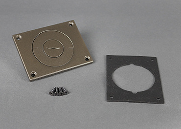 Powder-coated Aluminum Cover Plate, 829CKAL-3/4BZ