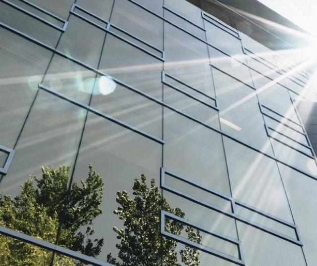 Sunshine reflecting off of building window