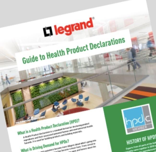 Legrand Health Product Declarations