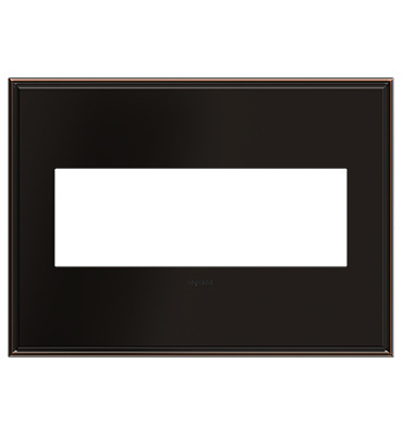 adorne 3-Gang Oil Rubbed Bronze Wall Plate