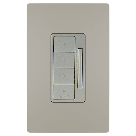 In-Wall RF Scene Controller, Nickel